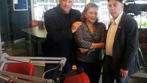 Wylma Guimarães recebe Presidente do SINEAA na Rádio Bandeirantes.