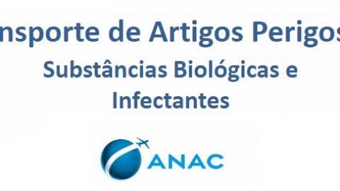 ANAC revisa orientações para o transporte de substâncias biológicas e infectantes em aeronaves civis.