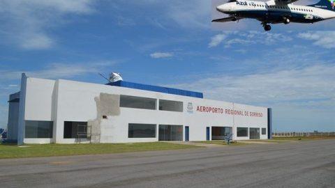 Aeronave retorna para Cuiabá após problemas na pista no aeroporto em Sorriso.