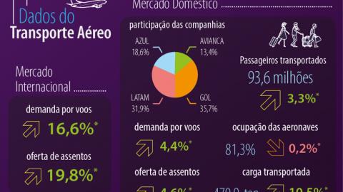 Mais de 103 milhões de passageiros foram transportados em 2018 por empresas brasileiras.