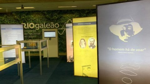 Aeroporto do Galeão recebe exposição sobre vida e obra de Santos Dumont