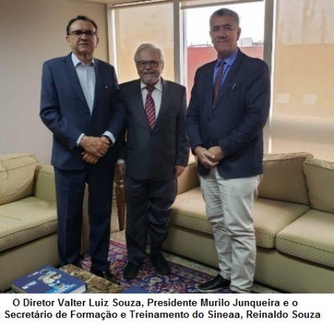 Presidente do Sineaa, Murilo Junqueira, se reúne na CNT